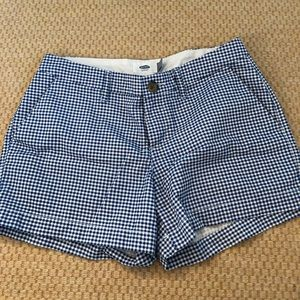 Old Navy Navy Gingham Shorts Size 0